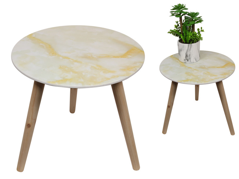 40x40cm Marble Side Table  code TABMAR