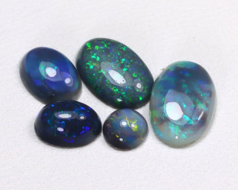 2.39Cts  Parcel Aussie Black  Opals    code CCC 656