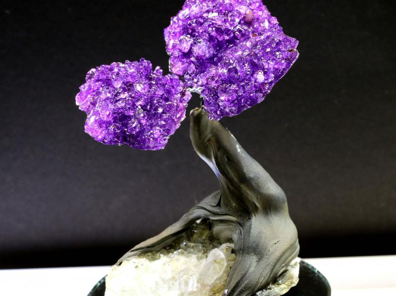 1100 CTS BEAUTIFUL AMETHYST TREE   RJA-1551-rarejewelry