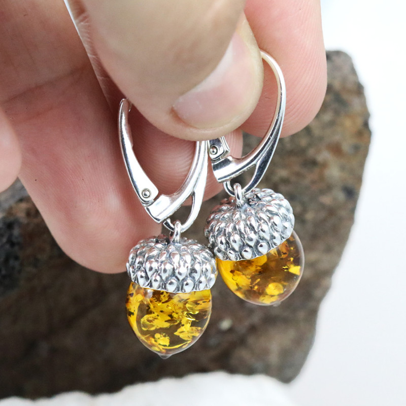 Baltic Amber Earring, direct from Poland RN332