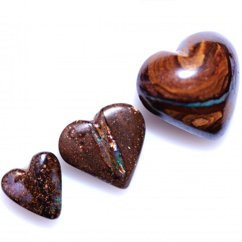 19.4Cts   parcel 3 Heart  Boulder  Opal  CCC 969
