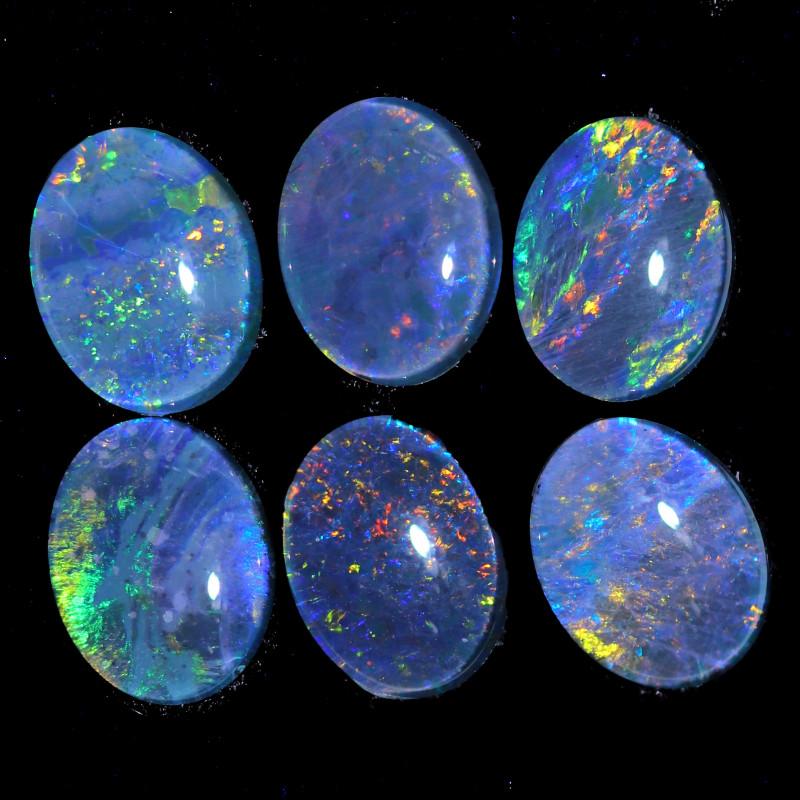 8.8Cts   parcel of 6  Australian  Triplet   Opals  CCC 1012