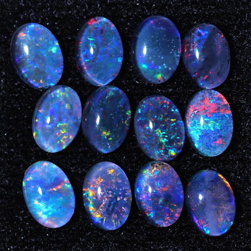 7.8Cts   parcel of 12   Australian  Triplet   Opals  CCC 1011