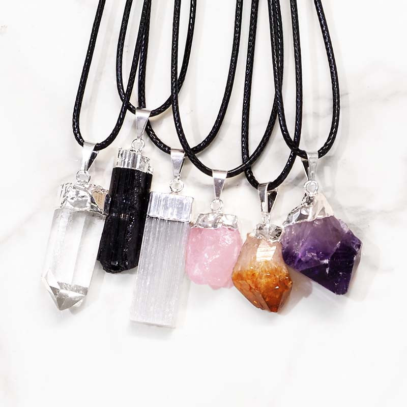 Crystal Electroform Pendant Set 6