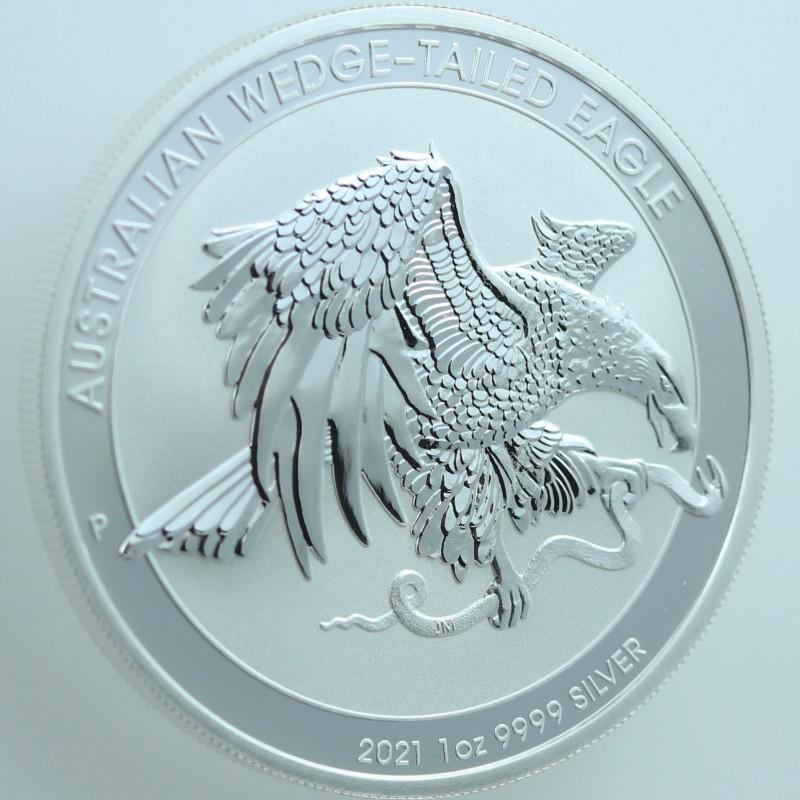 Australian Wedge Tail Eagle 1 oz pure 99.9% silver BU coin 2021