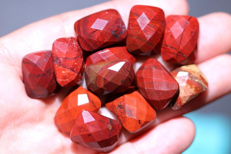 Parcel 12 Faceted Red Jasper  Gemstones AHA 424