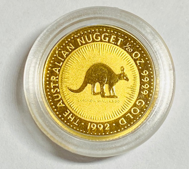 Perth Mint The Australian gold Nugget 1/20 Ounce Gold 1992