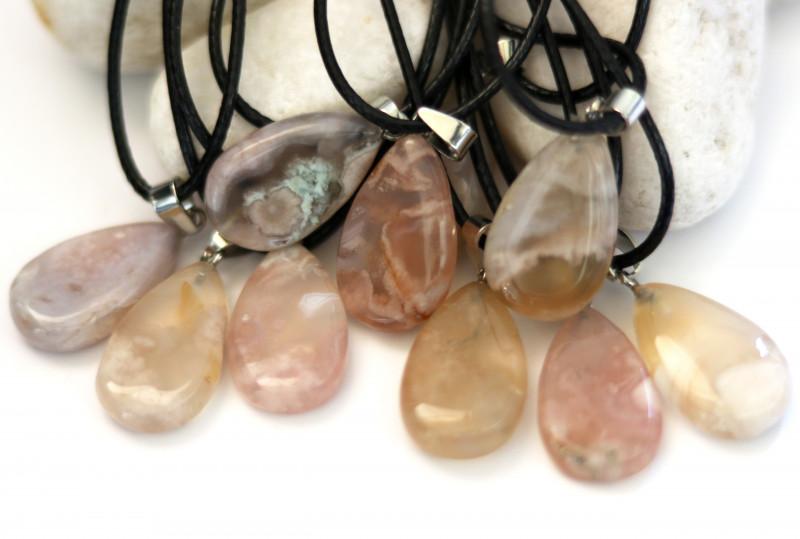 Wholesale 10 pcs Tear Drop Crystal Agate Pendants G/P  AHA 770