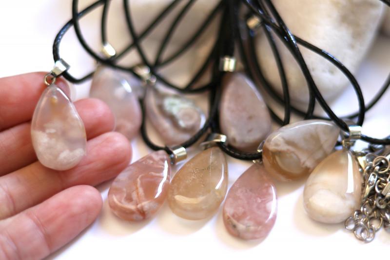 Wholesale 10 pcs Tear Drop Crystal Agate Pendants G/P  AHA 771