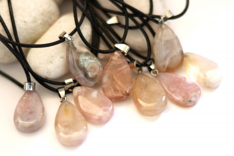Wholesale 10 pcs Tear Drop Crystal Agate Pendants G/P  AHA 772
