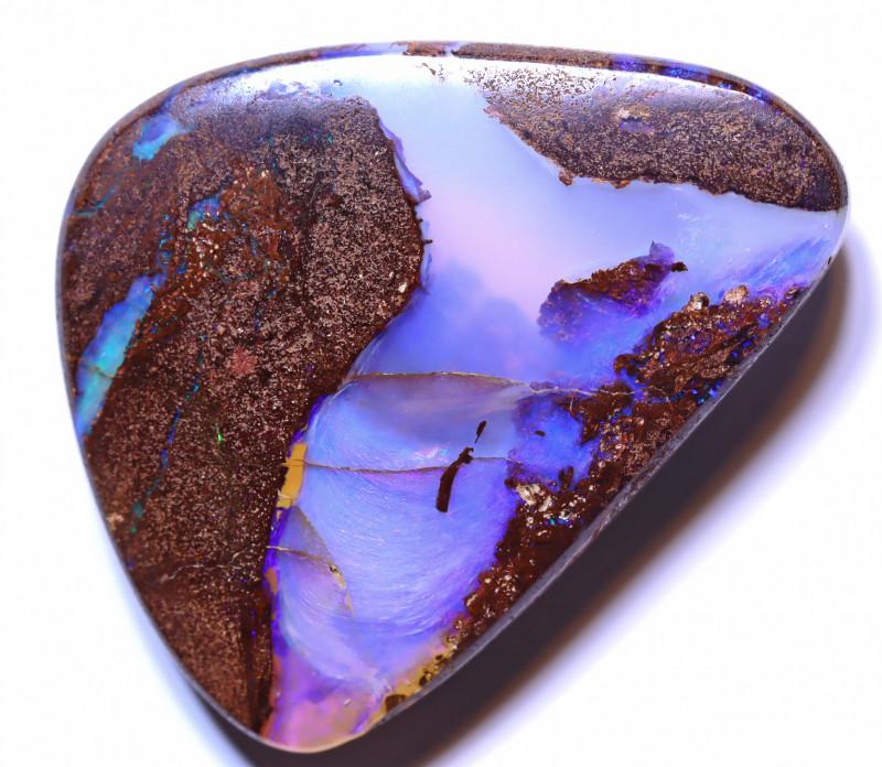 30.33 carats Boulder  Pipe Opal Cut Stone ANO-2611