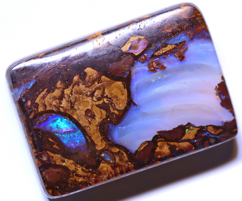 61.12 carats Boulder  Pipe Opal Cut Stone ANO-2624