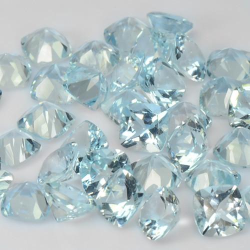Aquamarine 36.77 Cts 43 Pcs Unheated Santa Maria Blue Natural Gemstones