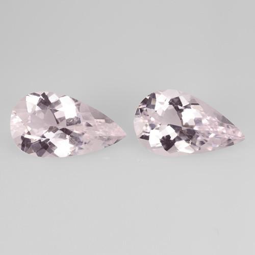 Morganite 13.26 Cts 2 Pcs Pair Amazing Rare Natural Pink Color Gemstone
