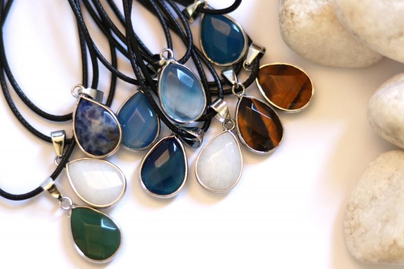 Wholesale 10 pcs popular Faceted Gemstone Pendants G/P  AHA 802