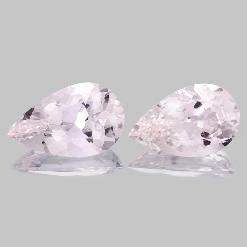 Morganite 13.20 Cts 2 Pcs Rare Natural Pink Color Gemstone