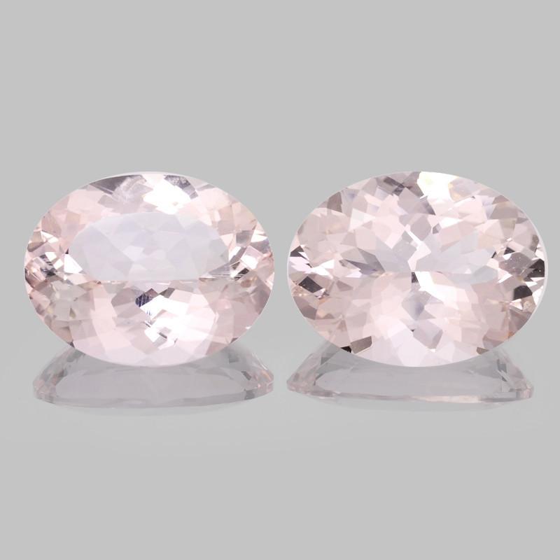 Morganite 23.63 Cts 2 Pcs Amazing Natural Pink Color Gemstone