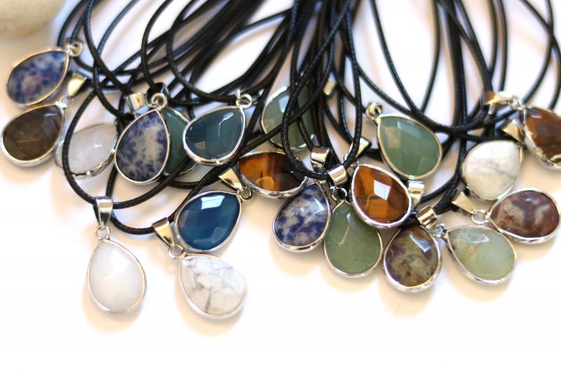 Wholesale 20 pcs popular Faceted Gemstone Pendants G/P  AHA 810
