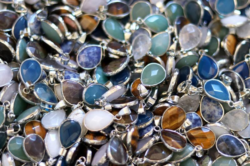 Wholesale 20 pcs popular Faceted Gemstone Pendants G/P  AHA 811