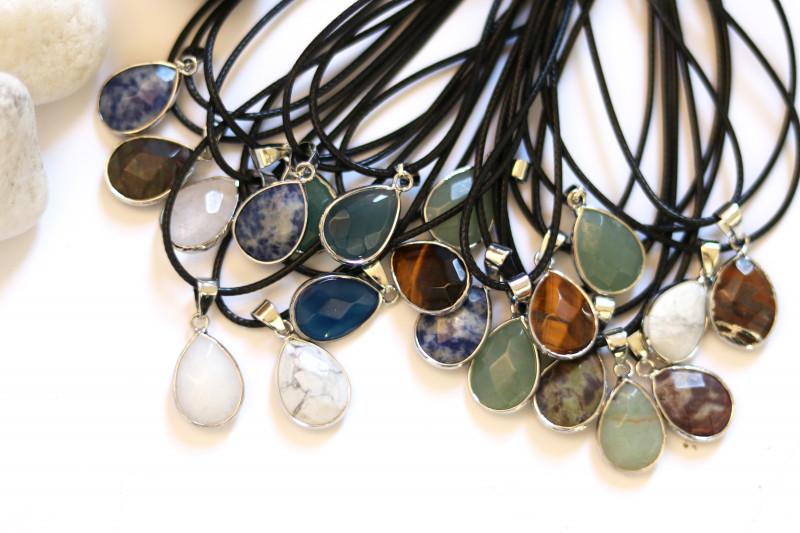 Wholesale 20 pcs popular Faceted Gemstone Pendants G/P  AHA 812