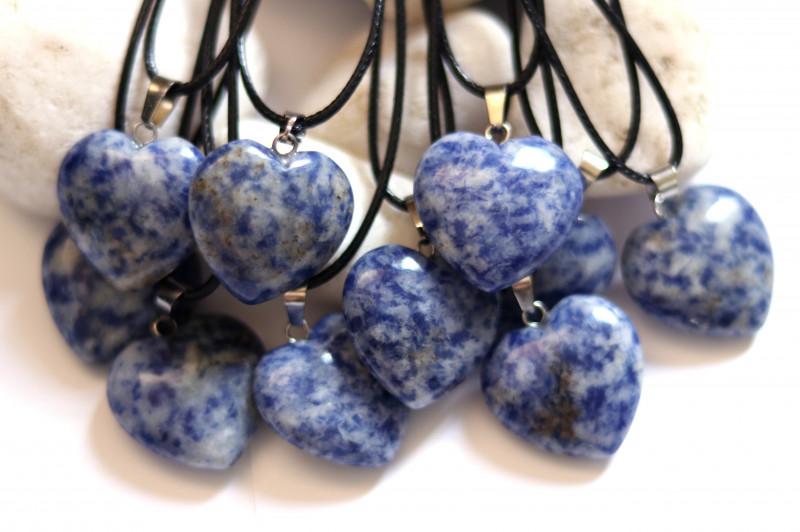 Wholesale 10 pcs Heart Shape Blue Sodalite PendantsG/P  AHA 815