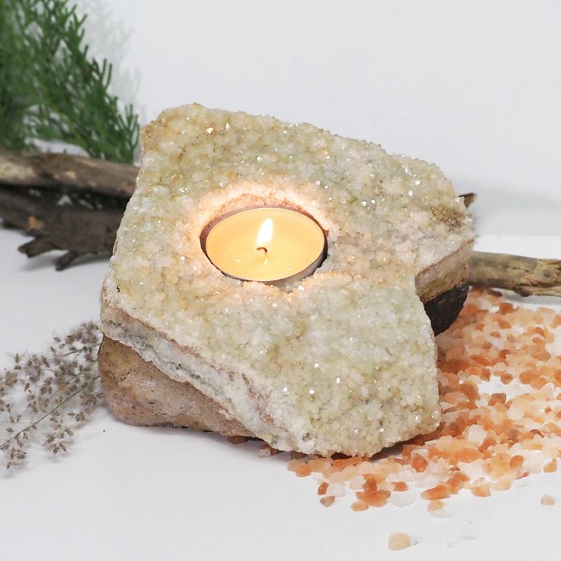 Citrine Druze Tealight Holder NR23