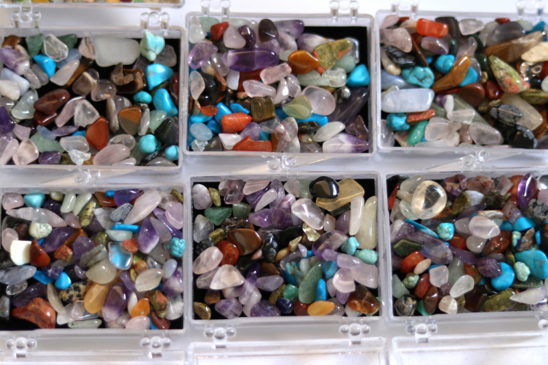 Six Sets Treasure Of The Earth Tumbled Stones AHA 855