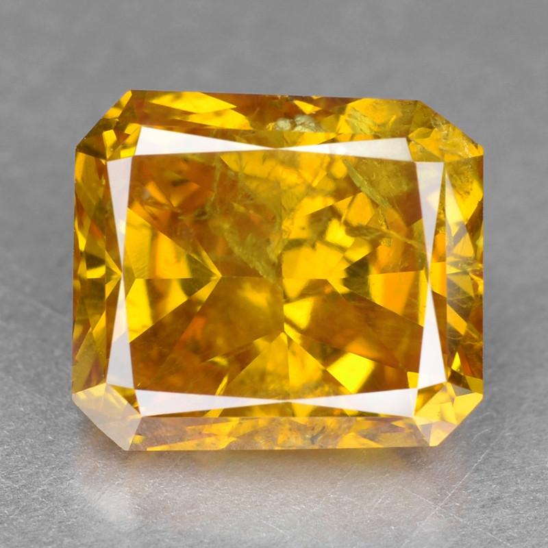 Diamond 1.06 Cts Sparkling Rare Fancy Vivid Orange Yellow Color Natural