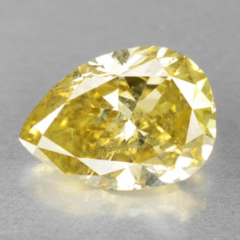 Diamond 1.34 Cts Sparkling Rare Fancy Greenish Yellow Color Natural