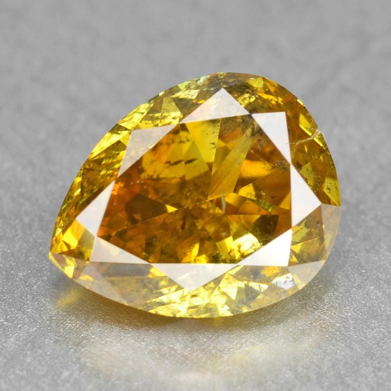 Diamond 1.12 Cts Sparkling Rare Fancy Vivid Orange Yellow Color Natural