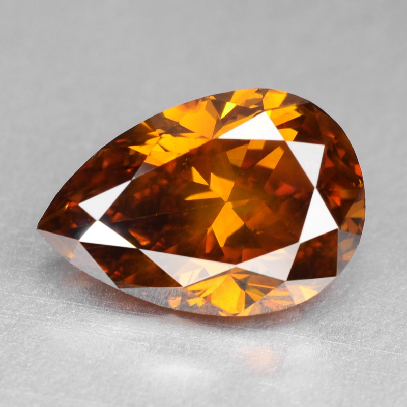 Diamond 1.37 Cts Sparkling Natural Fancy Deep Orange Color