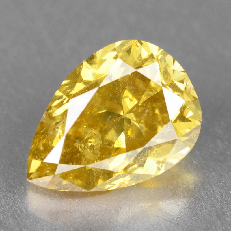 Diamond 1.07 Cts Sparkling Natural Fancy Vivid Yellow Color