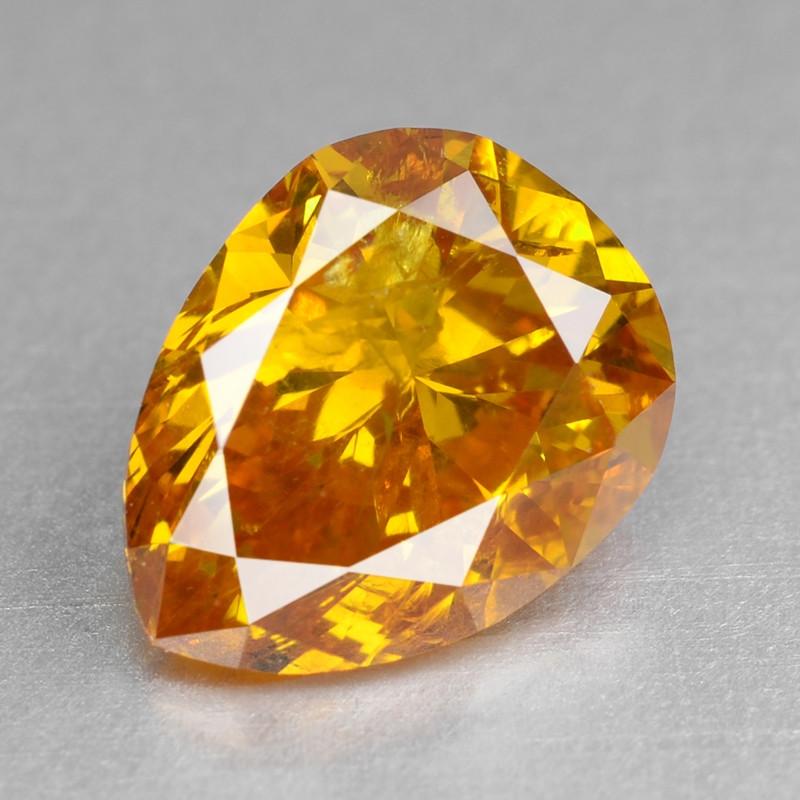 Diamond 1.00 Cts Sparkling Natural Vivid Orange Color