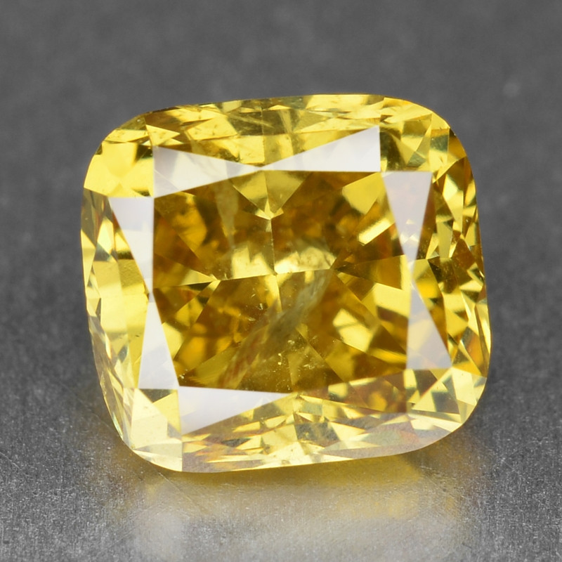 Diamond 1.08 Cts Sparkling Natural Fancy Vivid Yellow Color