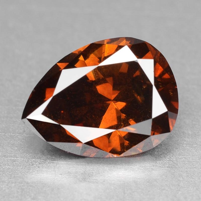 Diamond 1.00 Cts Sparkling Natural Fancy Deep Orange Red Color
