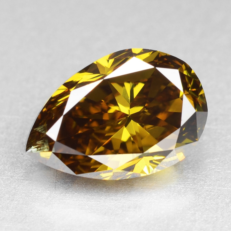 Diamond 1.01 Cts Sparkling Natural Fancy Deep Brownish Yellow Color