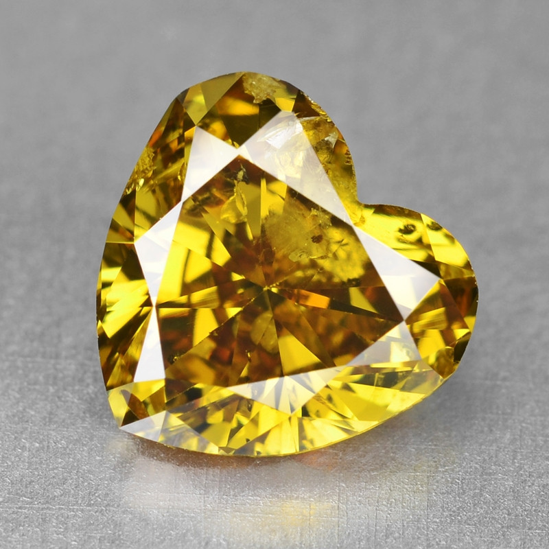 Diamond 1.05 Cts Sparkling Natural Fancy Deep Vivid Yellow Colo