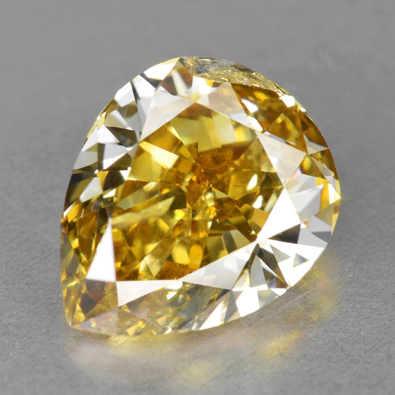 Diamond 1.05 Cts Sparkling Natural Fancy Yellow - White Color