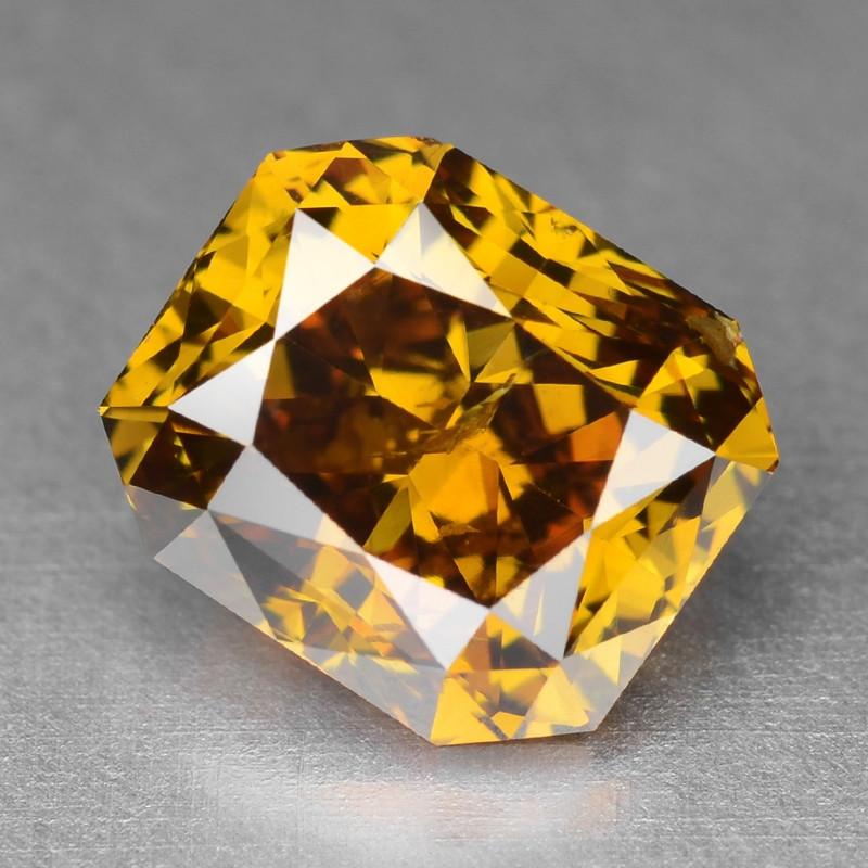 Diamond 1.06 Cts Sparkling Natural Fancy Vivid Orange Yellow Color