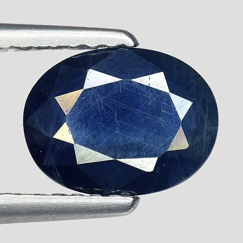 1.55Ct Natural Blue Sapphire Good Quality  Gemstone. BS 35