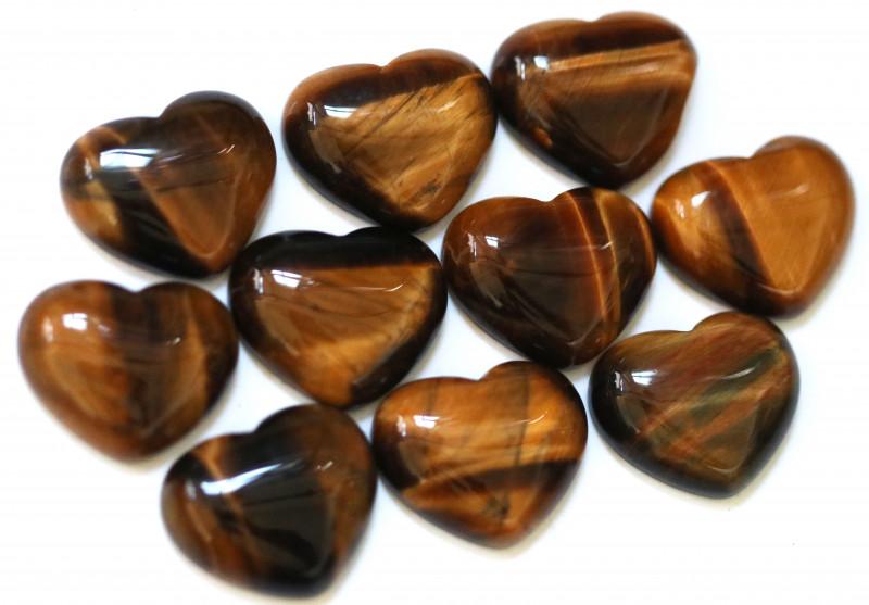 Wholesale 10 pcs Tiger Eye Heart Shape 18x15mm AHA 909