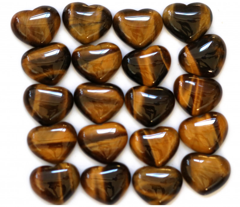 Wholesale 20 pcs Tiger Eye Heart Shape 18x15mm AHA 910