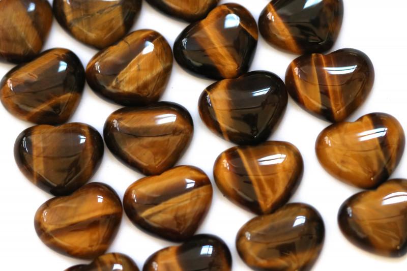 Wholesale 20 pcs Tiger Eye Heart Shape 18x15mm AHA 912