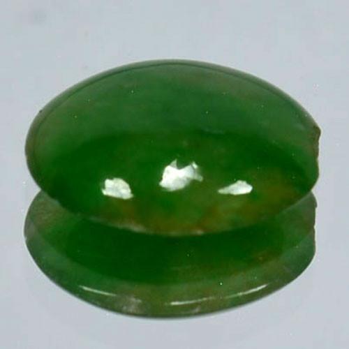 1.30 Cts Natural Green Jade Oval Cabochon Burmese