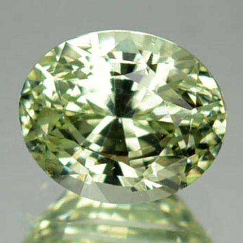 1.90 Cts Sparkling Natural Green Zircon Oval Cut Africa Gem