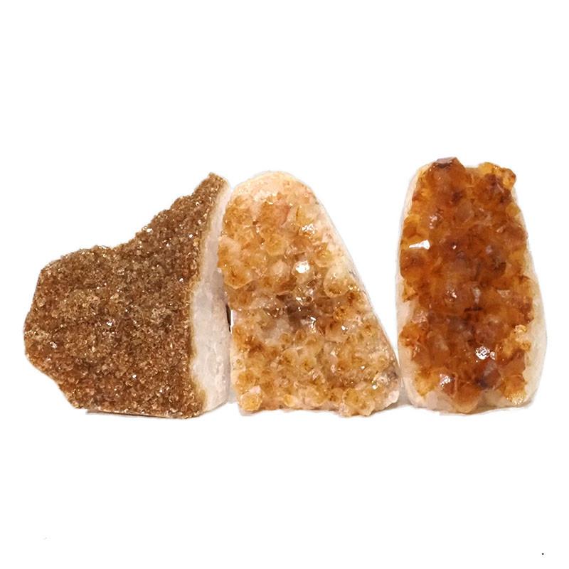 1.51kg Citrine Polished Crystal Geode Specimen Set 3 Pieces DN208
