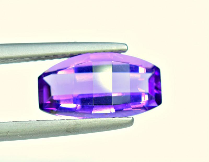 3.14 Carat Amethyst Pixelated  Cut Gemstone