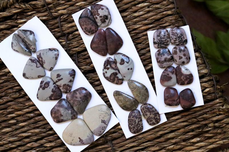 14 Pairs Jasper Gemstones CCC 1255