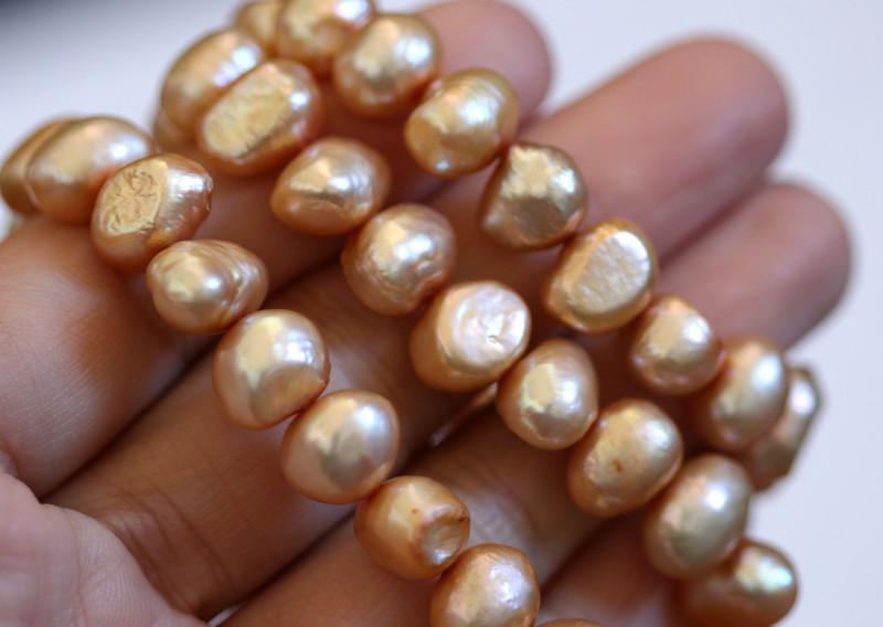 Golden Cream Baroque Pearl Strands GOGO 1905