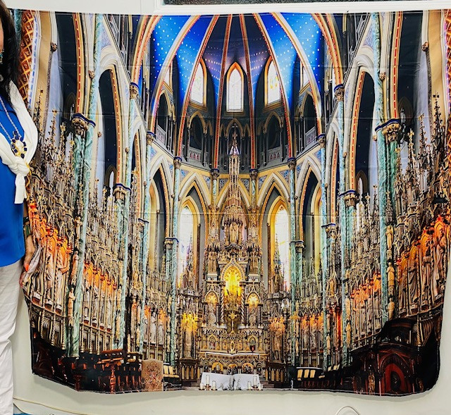 Large Vienna Church mural drop wall tapestry code Pr 15